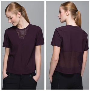 Lululemon Perfectly Perfed Tee in Black Cherry
